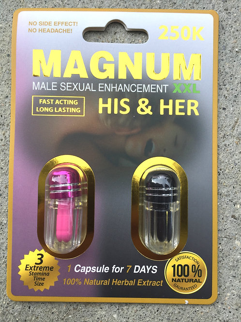 Magnum 250k His And Her 40 ct Display Box $3.30 per pill