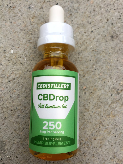 CBDistillery CBD Oil 250 MG 1oz 6 bottles $16 per bottle