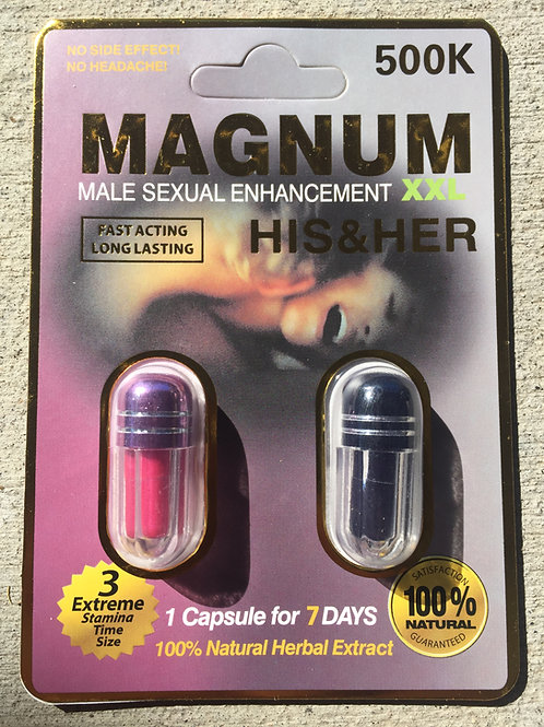 Magnum 500k His And Her 40 ct Display Box $3.30 per pill