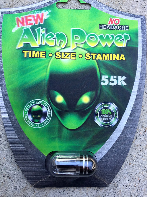 Alien Power 55,000 24 ct Display Box $3.33 per pill