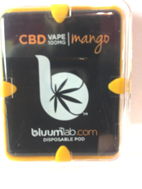 Bluum CBD Disposable Vape Pod Mango- 100mg -10 pc Display $12.50 each