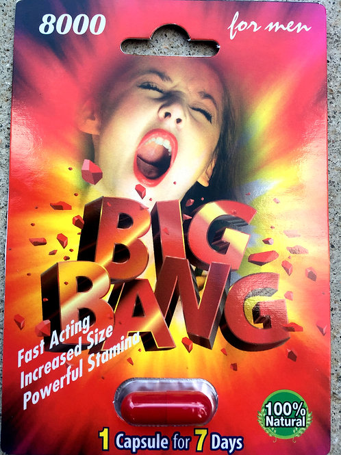 Big Bang 8000 -30 ct Display Box $2.83 per pill