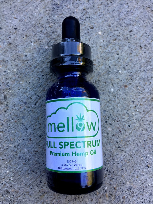 Mellow CBD Oil 250 MG 1oz 6 bottles $16 per bottle
