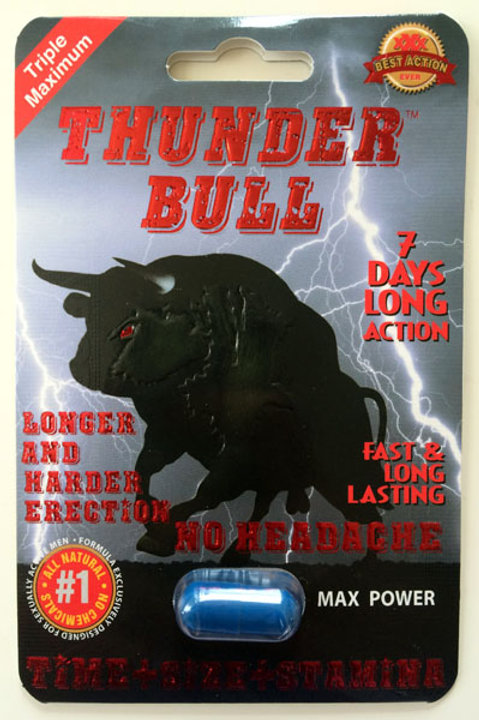 Thunder Bull 24ct Display Box  $3.76 per pill