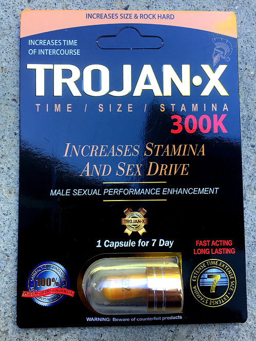 Trojan-X 300k 24 ct Display Box $4.75 per pill
