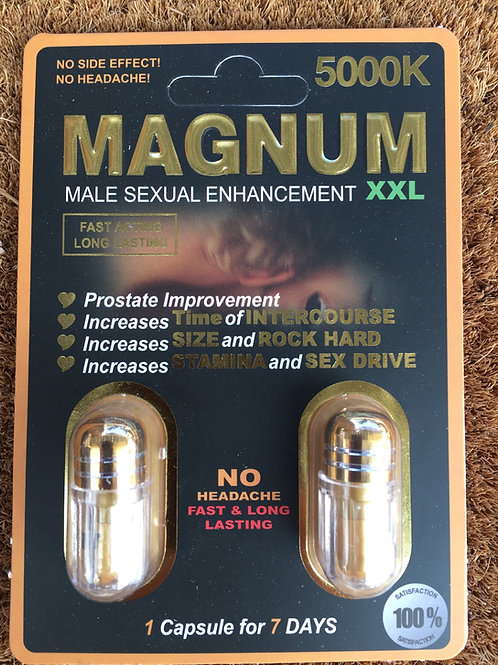 Magnum Double 5000 XXL 48 ct 24 two pill packs $2.25 per pill