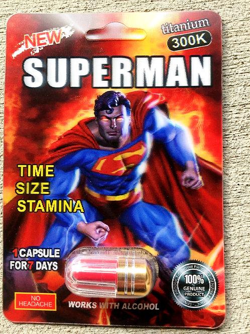 Superman 500 k 24 ct Display Box $4.00 per pill