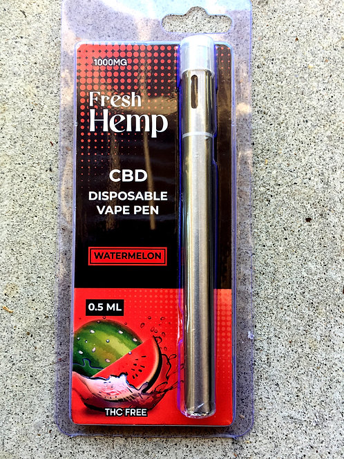 Fresh Hemp Disposable Vape Pen 1,000 mg 6 Flavors 12 pens $15.40 per pen