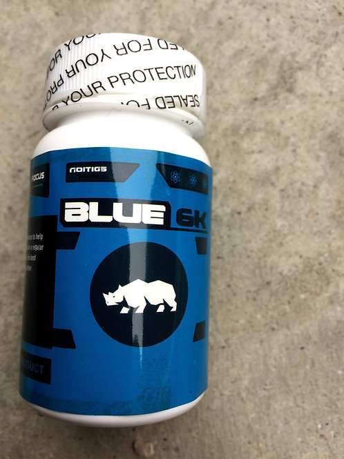 Blue 6k -6 ct bottles (10 bottles) $18 per bottle 60 pills total