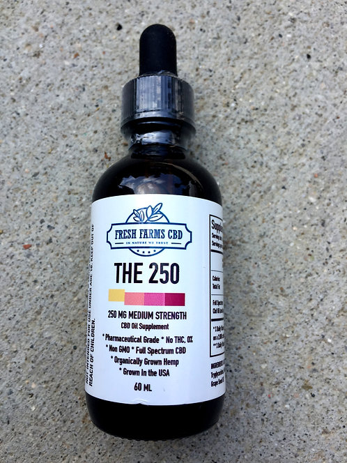 Fresh Farms CBD Oil 250 MG 2oz -6 bottles $17 per bottle (TWO OUNCES)