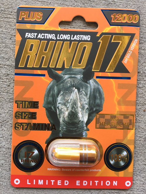 R 17 Plus 12,000 24 ct Display Box $4.58 per pill
