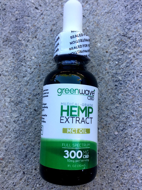 Green Wave CBD Oil 300 MG 1oz 6 bottles $21.75 per bottle