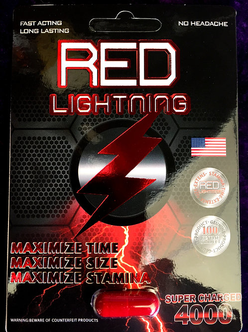 Red Lightning Super Charged 4000 24 ct Display Box $5.50 per pill
