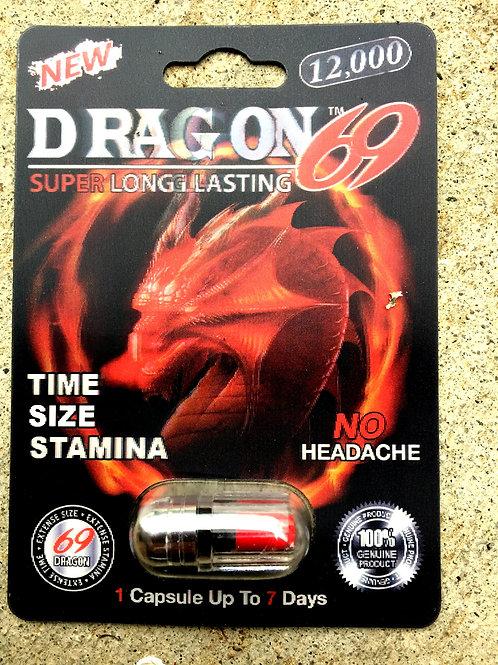 Dragon 69 12,000 20 ct Display Box $3.90 per pill
