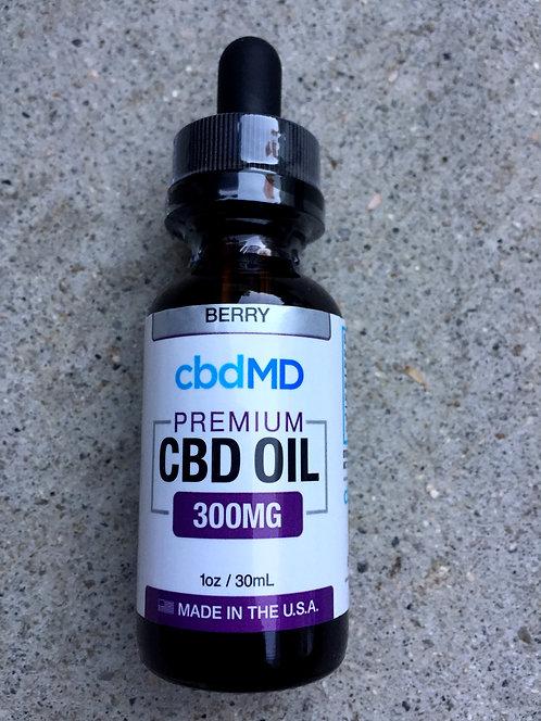 CbdMD Oil 300 mg 1oz 6 bottles 2 flavors $19.40 per bottle