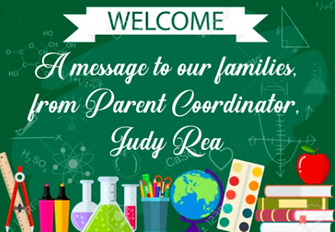 Welcome message link from Judy Rea