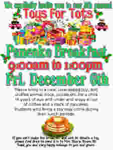 Toys for Tots Pancake Breakfast flier