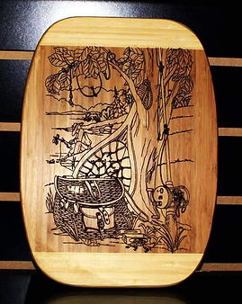 Cutting Board Fishing Theme