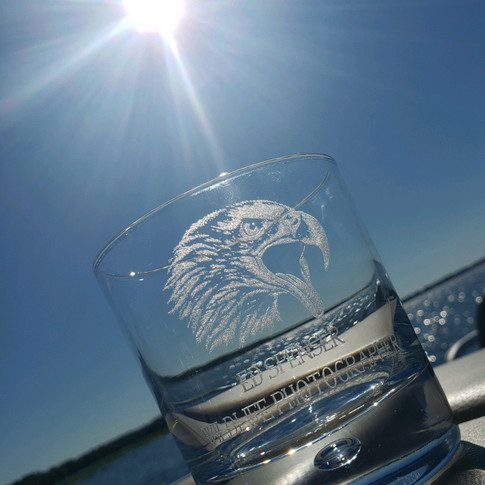 Bald Eagle Glass Tumbler
