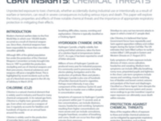 CBRN Insights: Chemical Threats