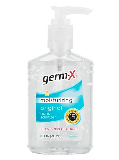 Germ-X Moisturizing Gel Hand Sanitizer, 8 oz. w/Pump