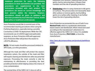 Avon Protection | New Disinfection Procedures