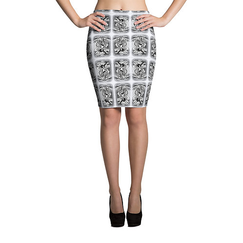 Sexy Fairy Print Pencil Skirt Between Heaven and Hell Boutique
