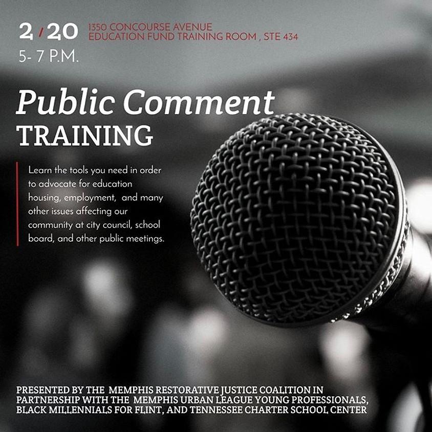 Public Comment Training