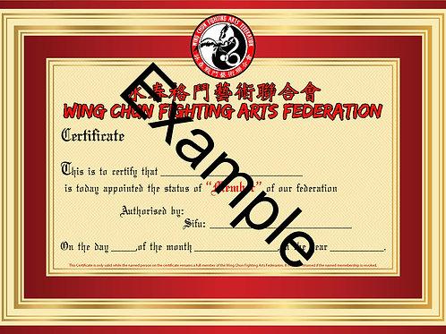 Wing Chun Fighting Arts Federation membership fee