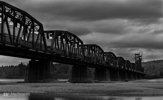 Hurry Across the Bridge B&W
