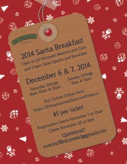 2014 Santa Breakfast Poster