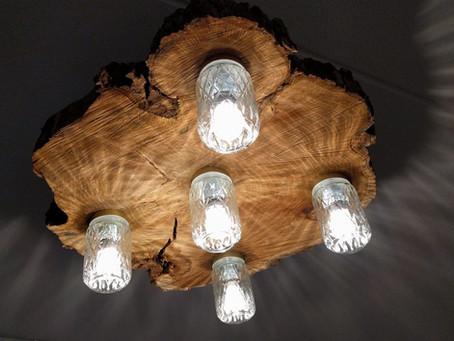 Zelf ontworpen lamp