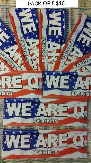 WE ARE Q PATRIOTS BUMPER STICKERS 5 FOR $10.