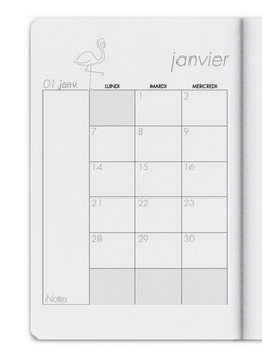 Vous pouvez sélectionner un aperçu mensuel pour chaque mois de l'année
