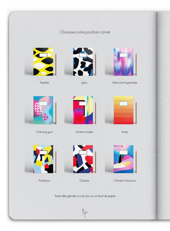 La dernière page du carnet présente d'autres modèles pour un futur achat