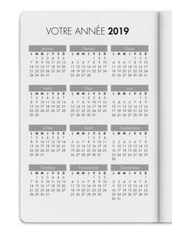 ou bien un calendrier plus synthétique sur une seule page