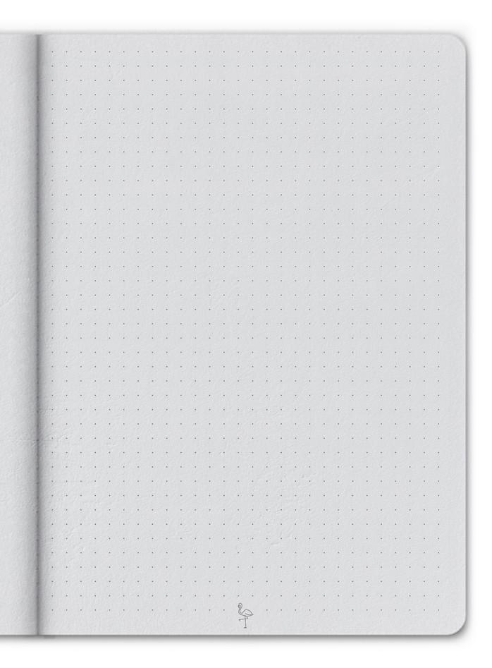 L'intérieur du carnet en page pointillée