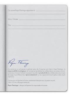Page de présentation du carnet