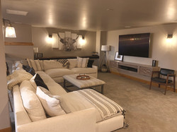 Basement family room space