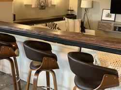 Custom reclaimed wood bar top