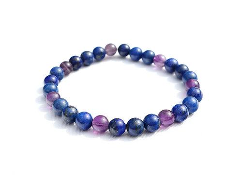Bracelet Lapis Lazuli et Améthyste