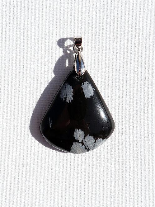 Pendentif Obsidienne Mouchetée