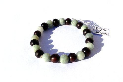 Bracelet jade birman et ébène
