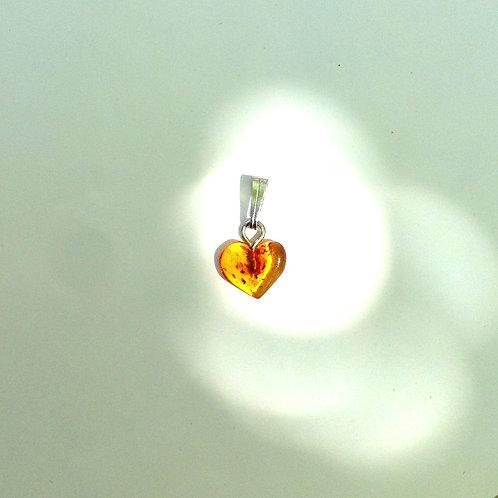 Pendentif coeur en Ambre