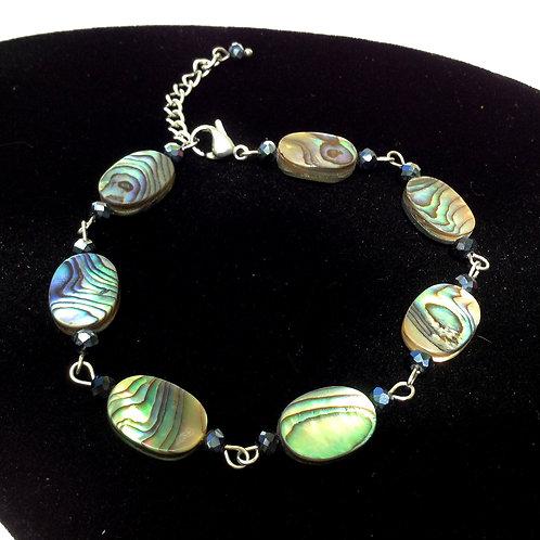 Bracelet en Abalone et cristal