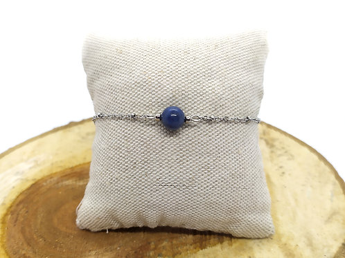 Bracelet acier inoxydable et dumortièrite