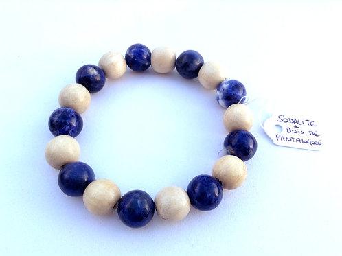 Bracelet Sodalite et Bois de pangantoon