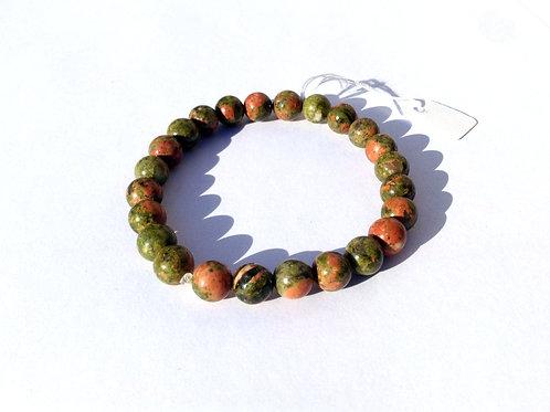 Bracelet en Unakite