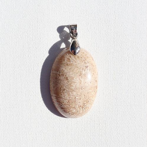 Pendentif Corail fossilisé
