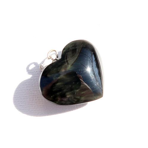 Pendentif Obsidienne Mentohuichol coeur